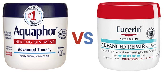 Aquaphor vs Eucerin