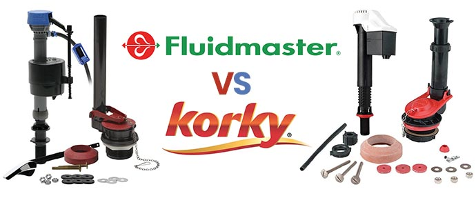 Fluidmaster vs Korky Toilet Parts