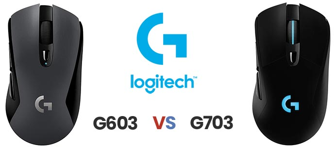 Logitech G603 vs G703 Hero